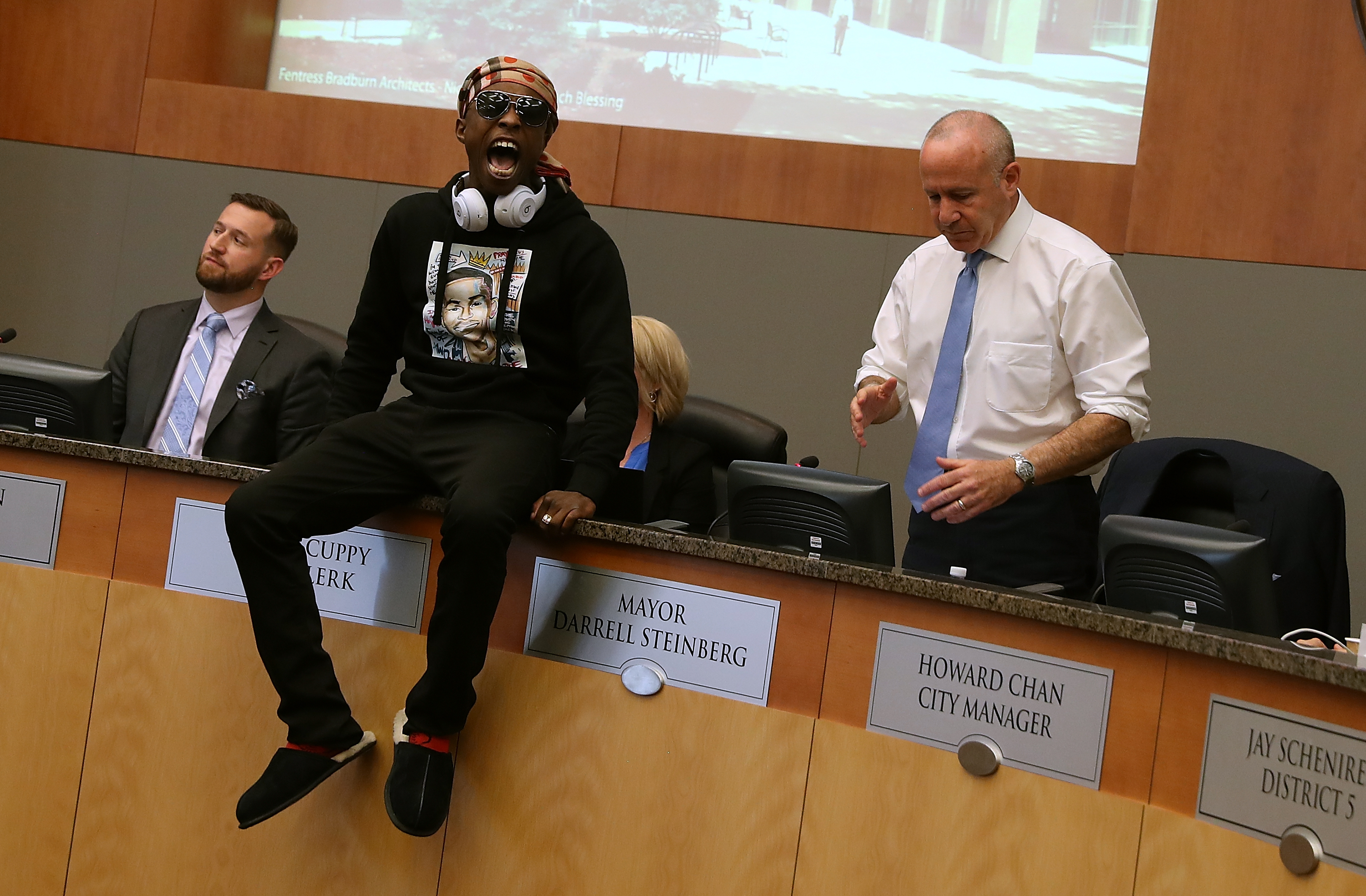 Hundreds Join Stephon Clark's Brother In Protest At Sacramento City Hall Meeting