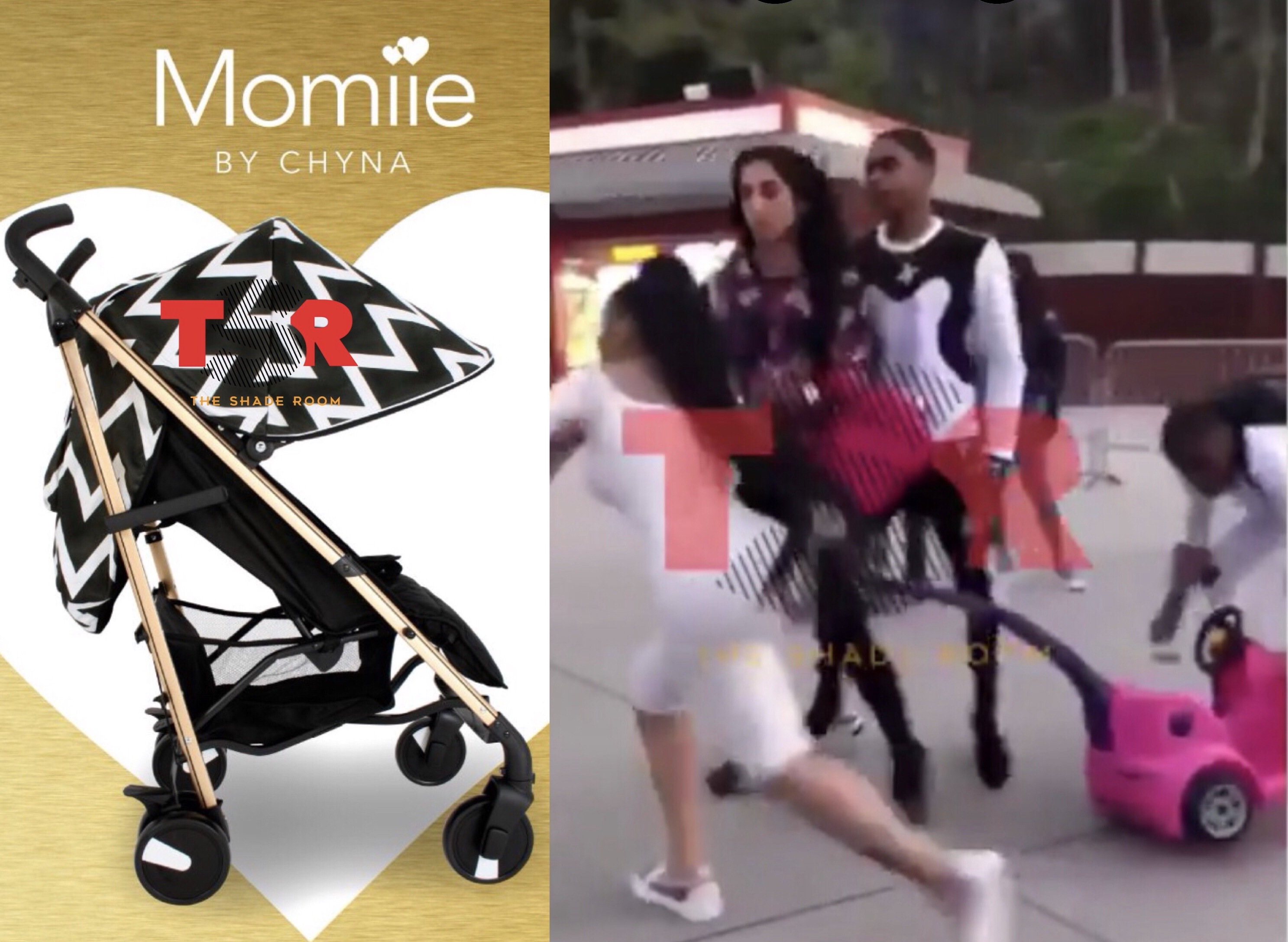 Blac Chyna dropped from stroller company after using plastic car as a weapon at Six Flags
