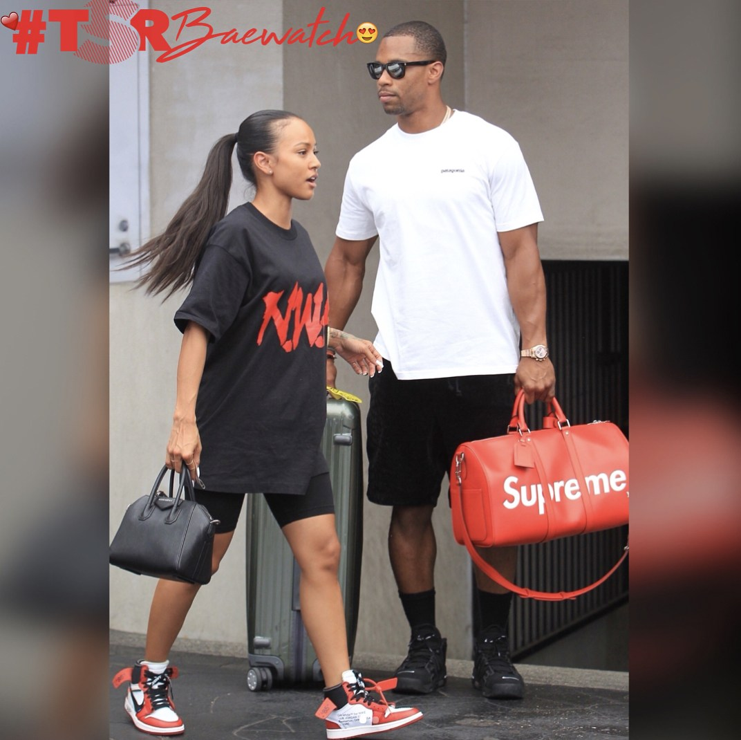 Karrueche and Victor Cruz
