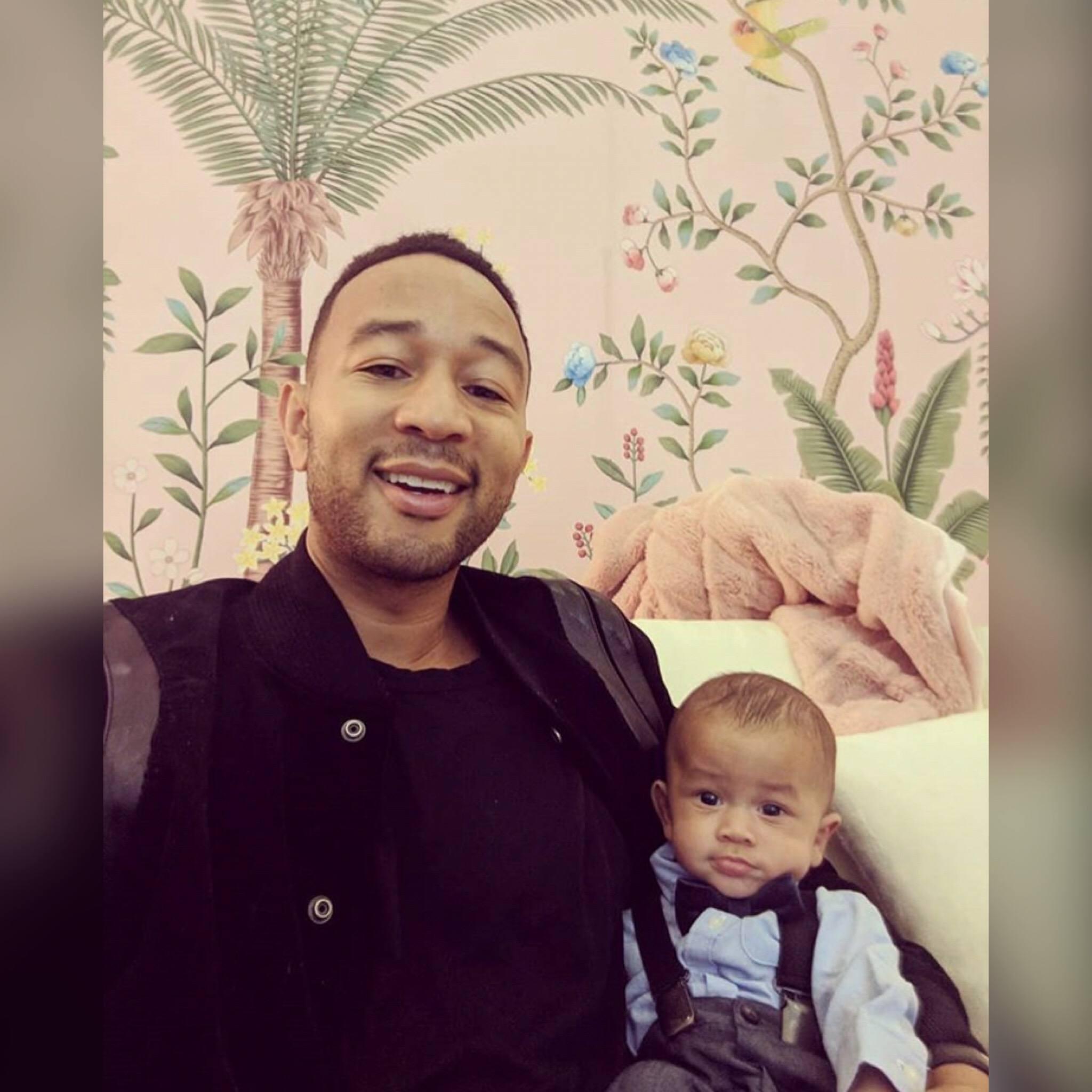 John Lengend & His Baby Boy Miles