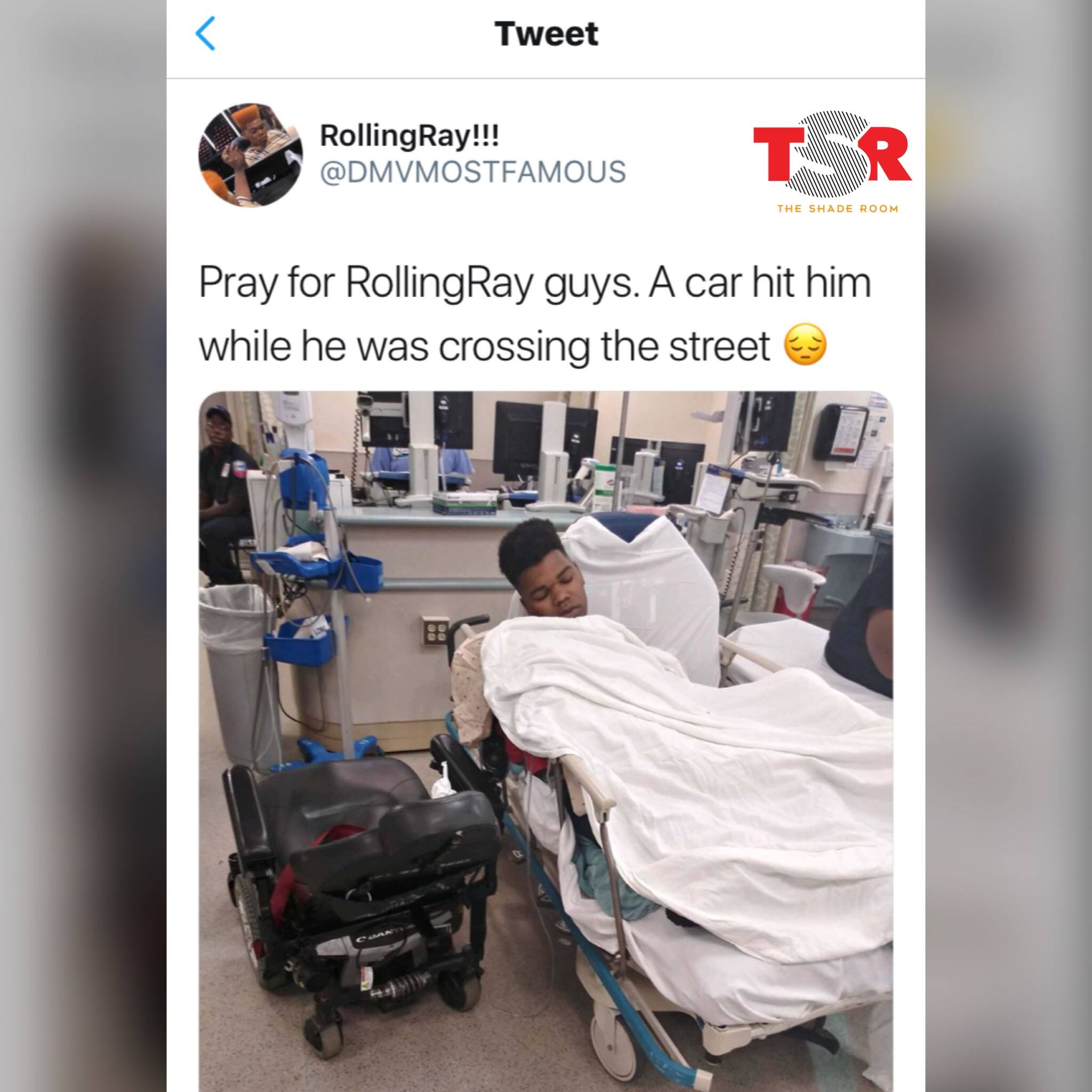 Rolling Ray Allegedly Got Hit By A Car While Crossing The Street
