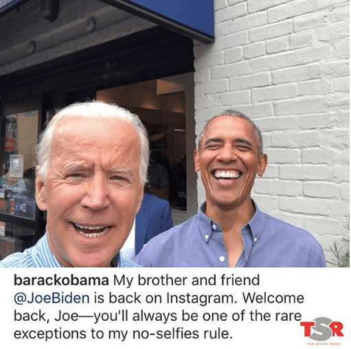 President Barack Obama And Joe Biden Showing Off Their Selfie Game!