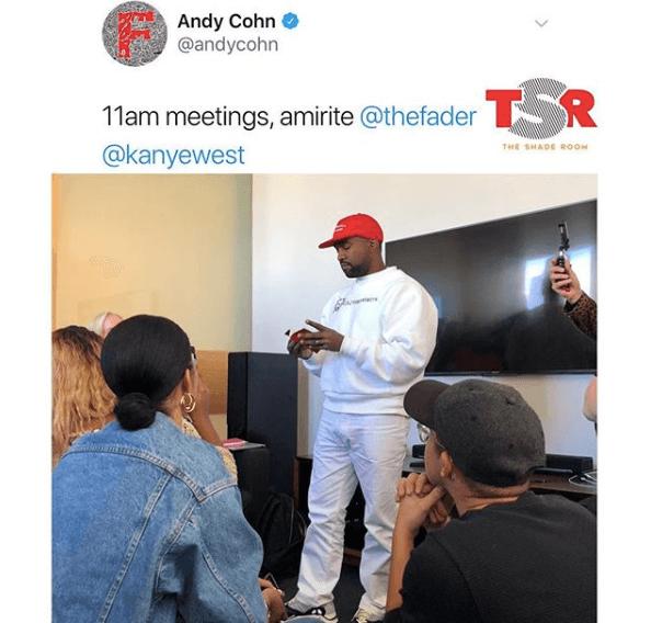 Kanye West Wears A MAGA Hat & Colin Kaepernick Sweatshirt