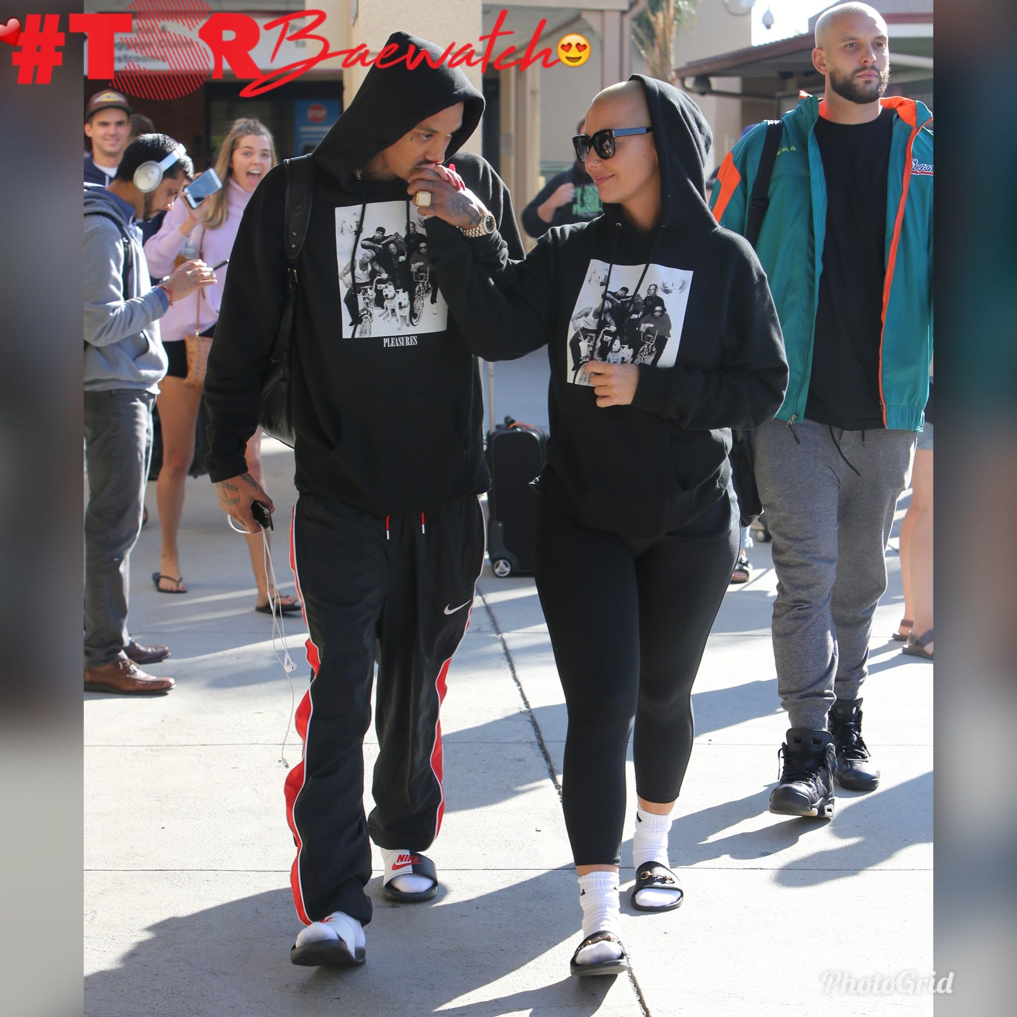 Amber Rose & Alexander Edwards With The Matching 'Fits Again