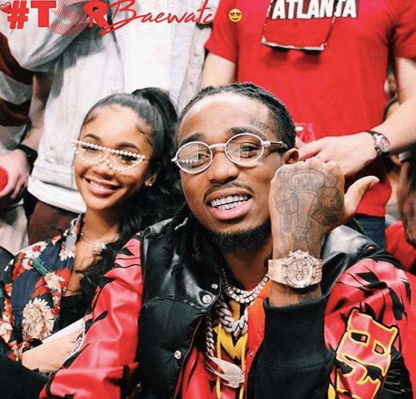 Saweetie And Quavo Lookin' Courtside Cute!