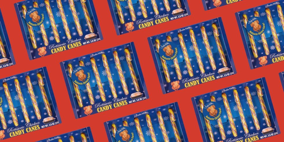 Wayment! Are Y'all Checking For These Rotisserie Chicken Flavored Candy Canes?!