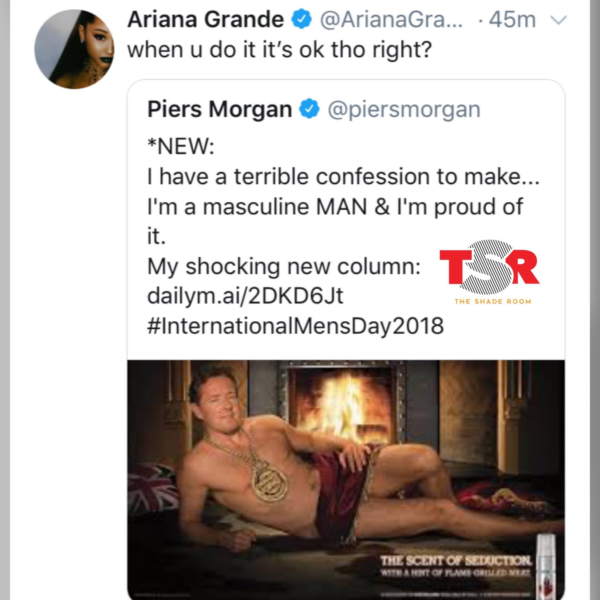 Ariana Grande vs Piers Morgan