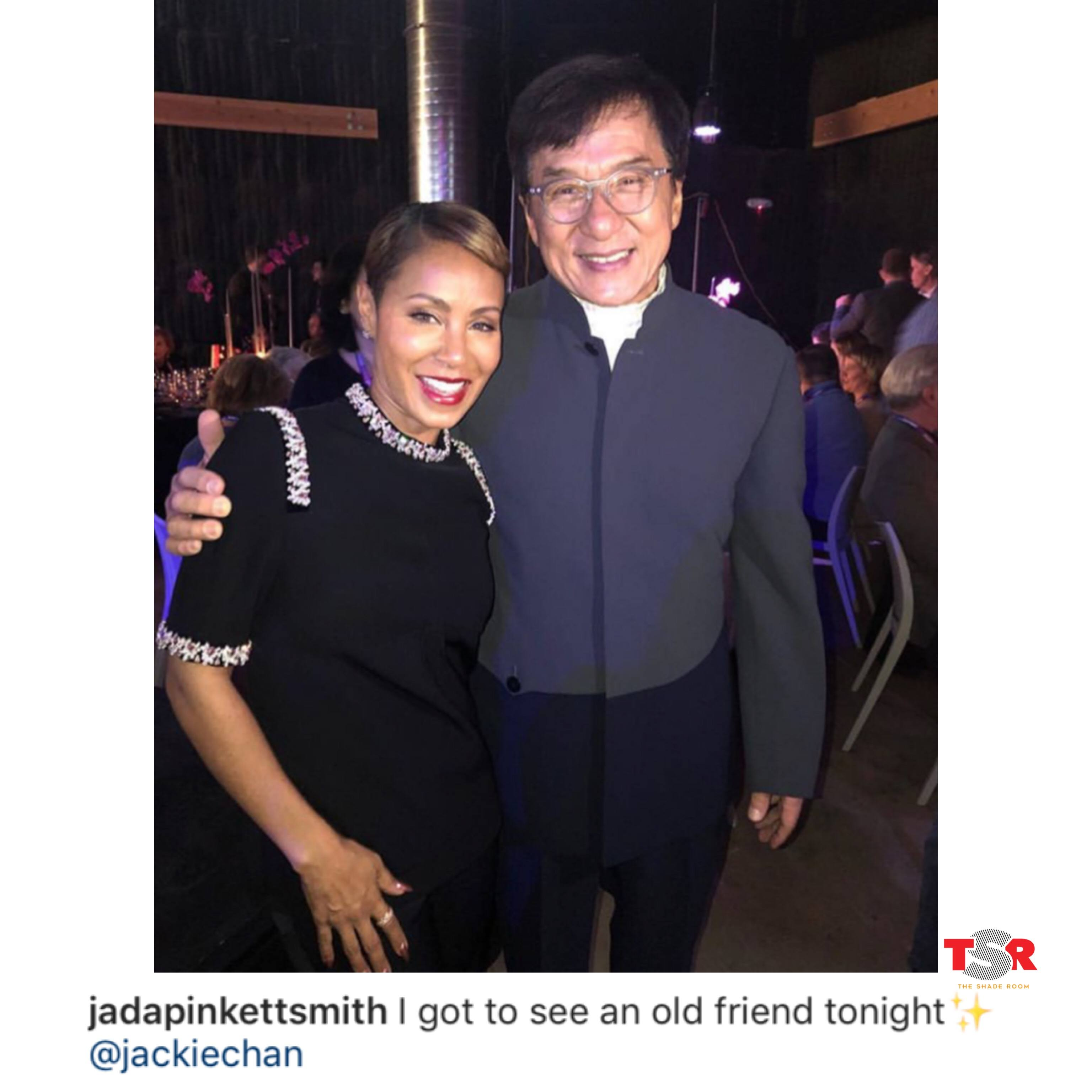 Jada Pinkett Smith & Jackie Chan Pose For A Photo