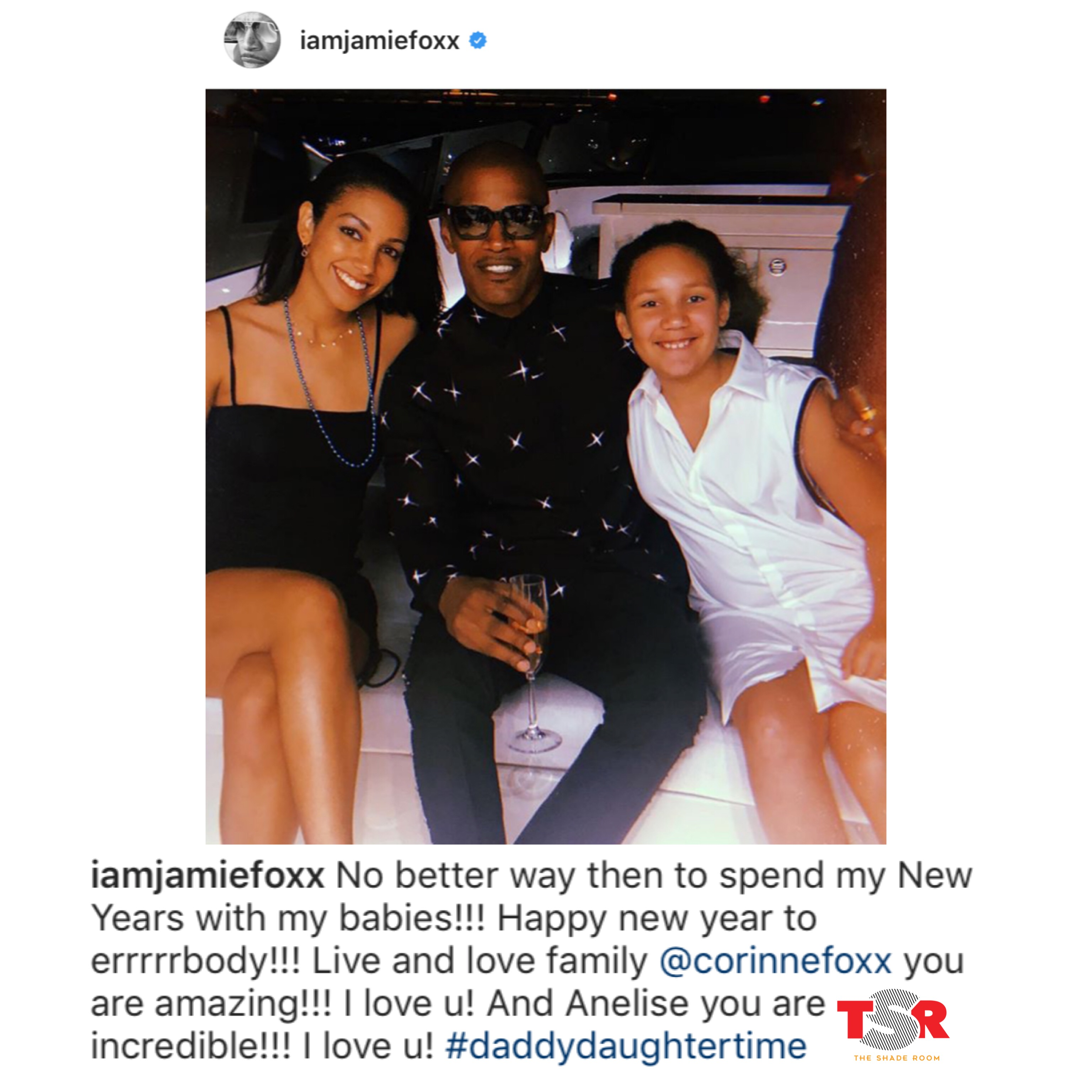 Jamie Foxx Celebrates The New Year With His Daughters