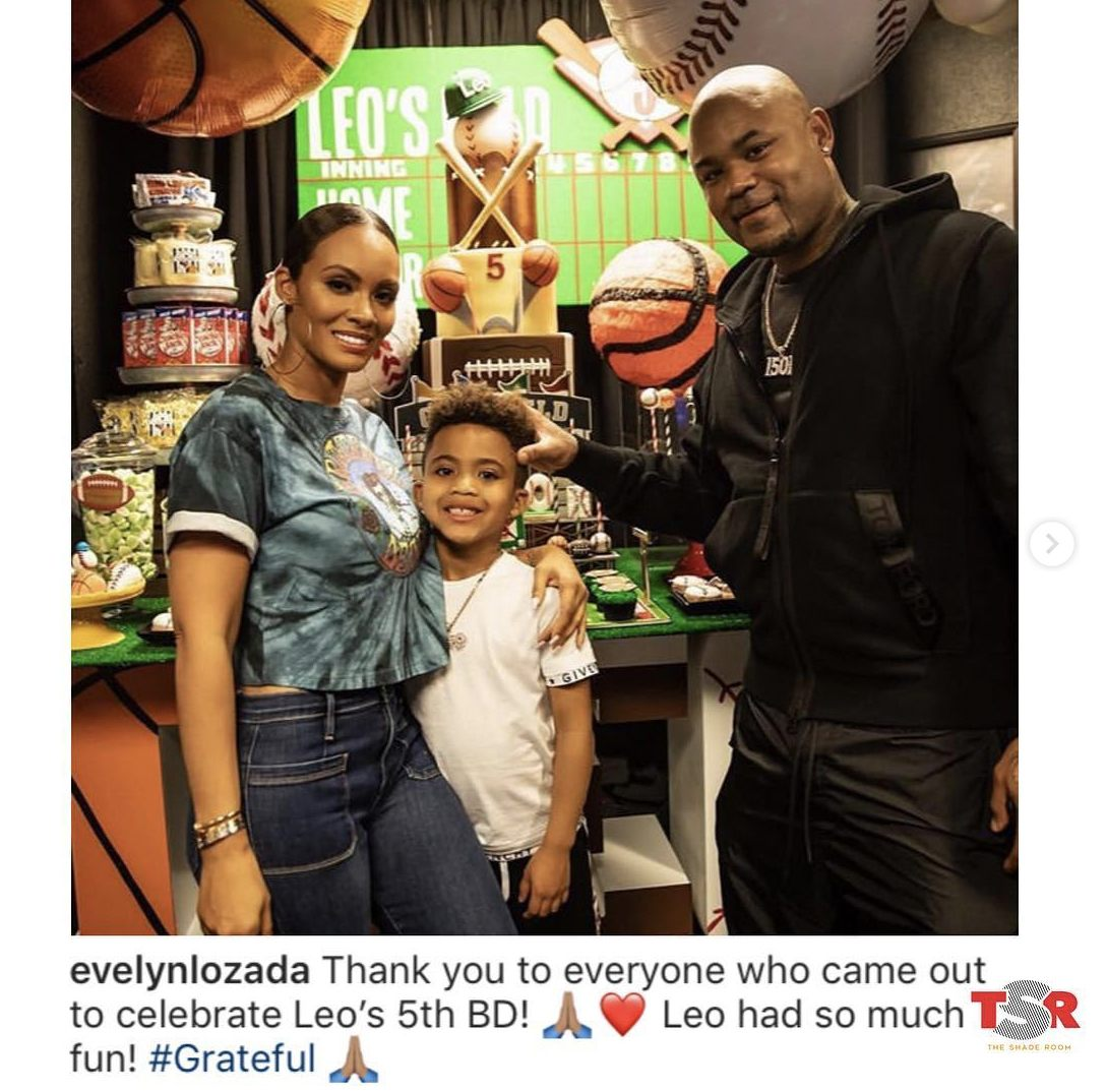Evelyn Lozada and Carl Crawford at son Leo's birthday party