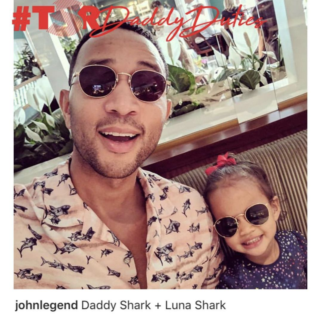 John Legend and his baby girl luna