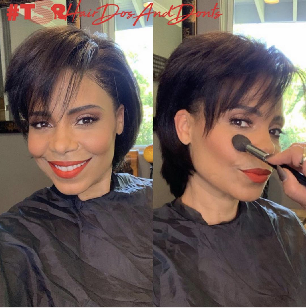 Sanaa Lathan new hair do