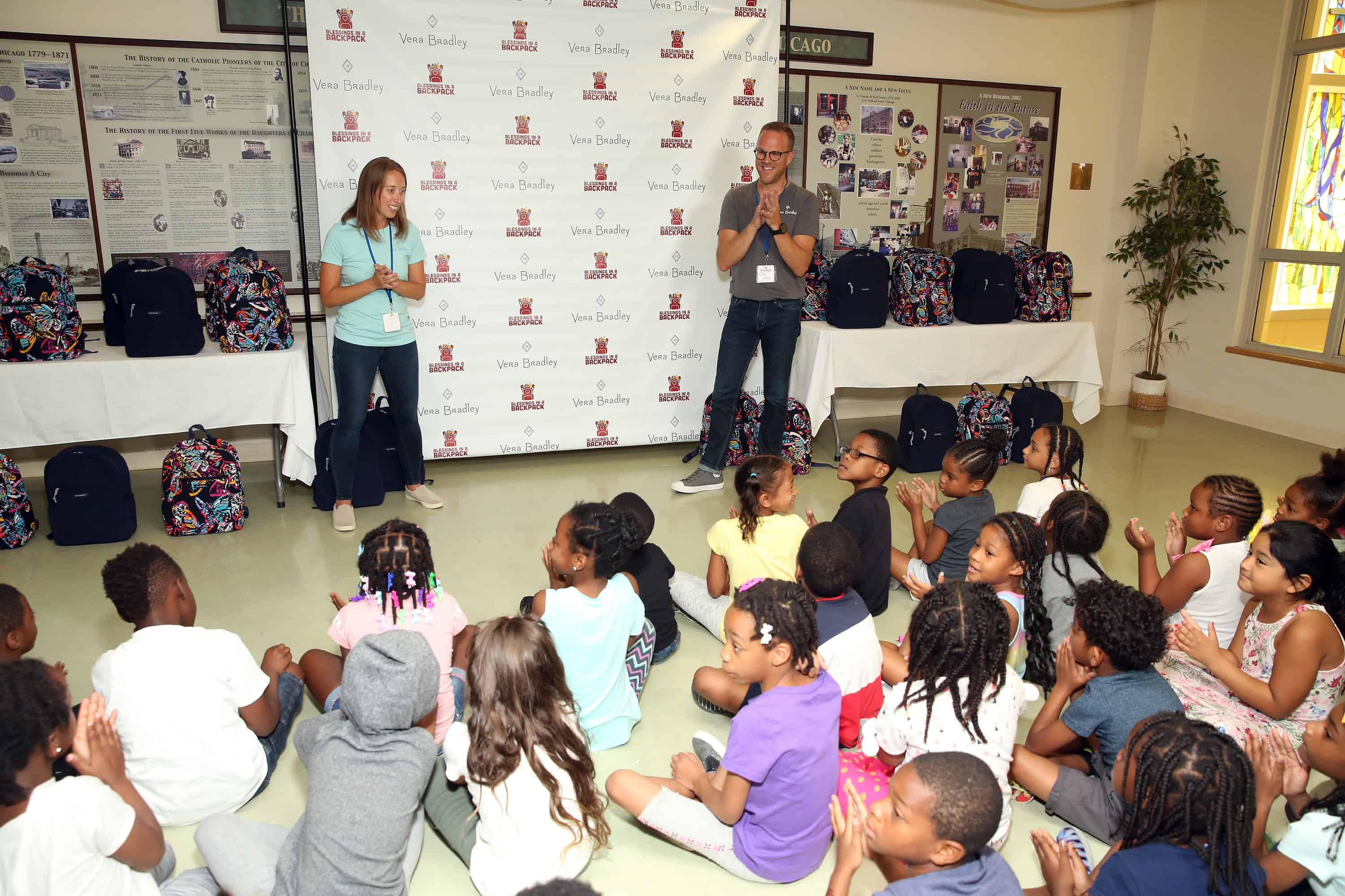 Vera Bradley Partners With Blessings In A Backpack To Kick-Off Back-To-School Philanthropy Tour With Shawn Johnson