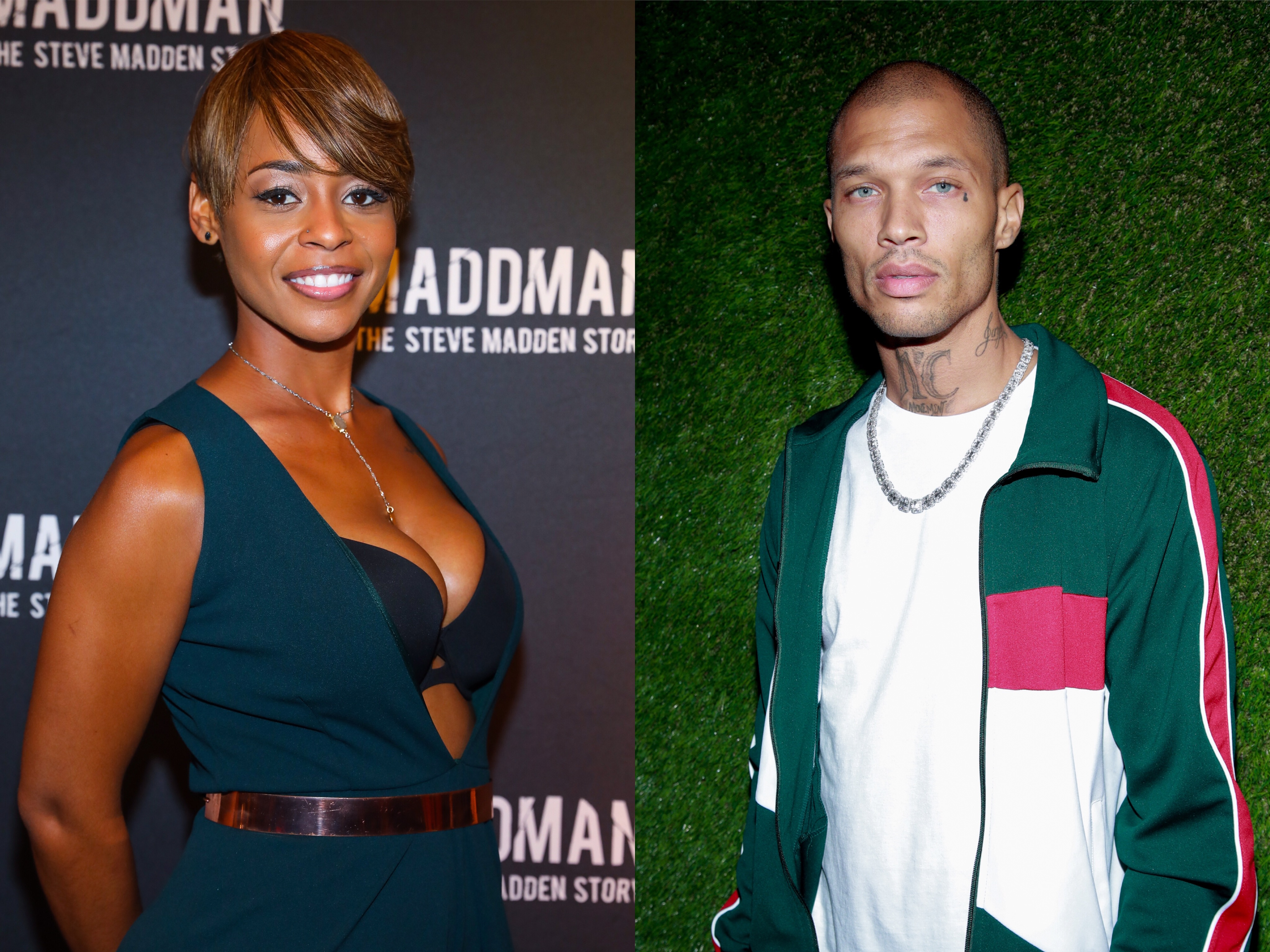 Jeremy Meeks was spotted out in LA with actress Erica Peeples as they headed to Catch LA. This comes after his fianceé was spotted with another man.