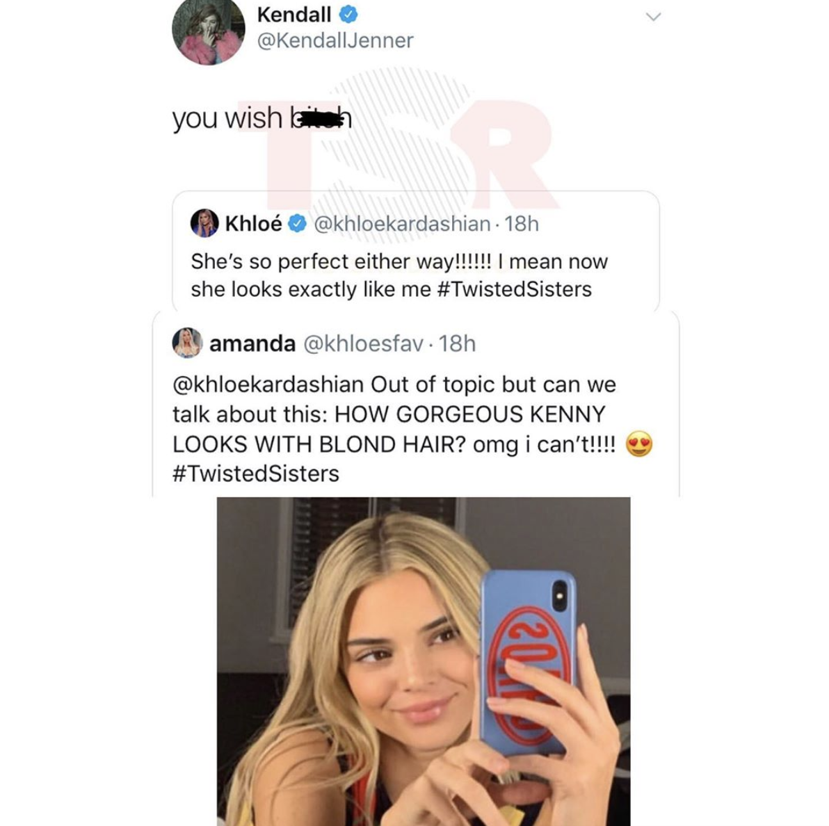 Kendall Jenner and Khloe on Twitter