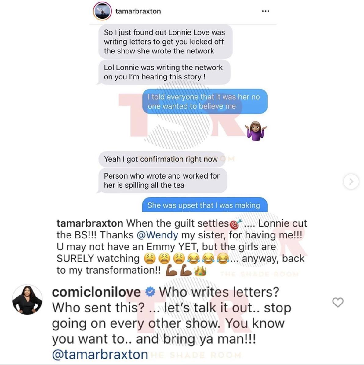 Lonnie Love claps back at Tamar