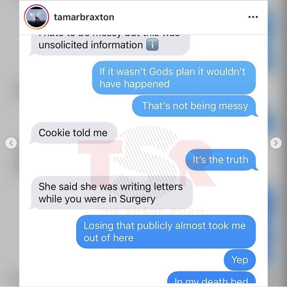 Tamar Braxton clapback