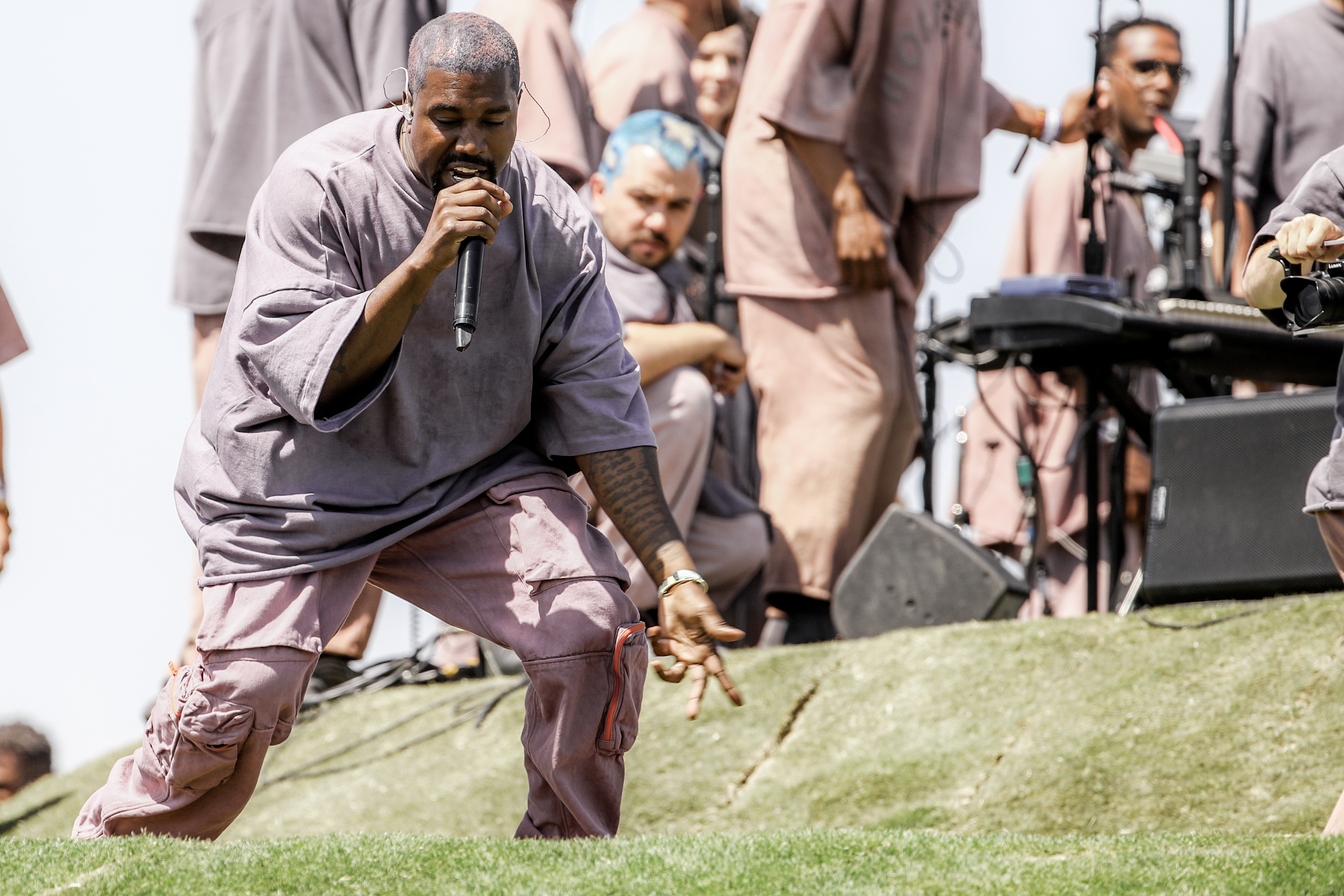 Kanye West took his Sunday Service to Salt Lake City and shared his political views with the crowd and talked about past backlash.