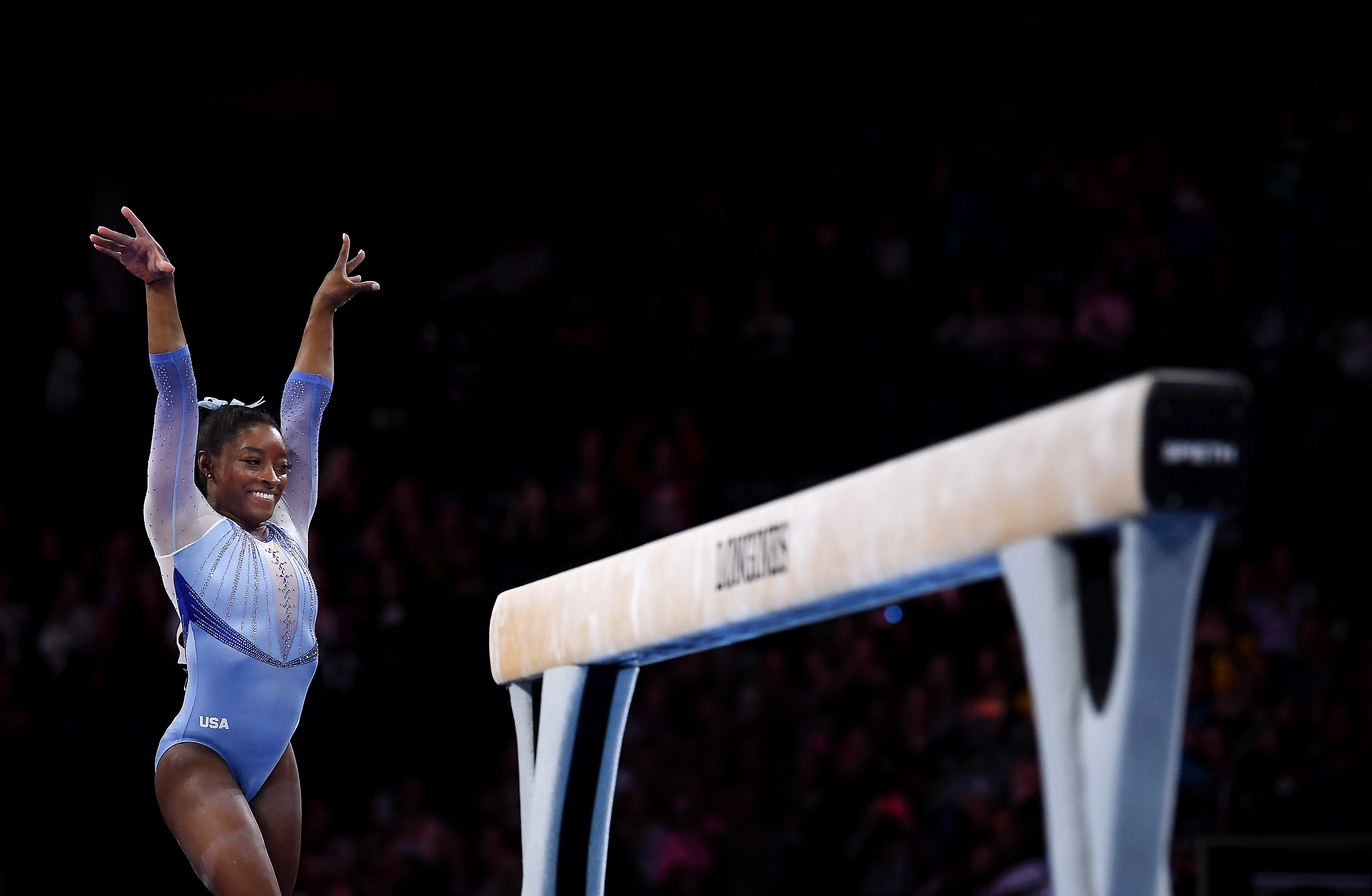 Simone Biles has two new moves name after her after competing in the World Championships in Stuttgart, Germany with Team USA.