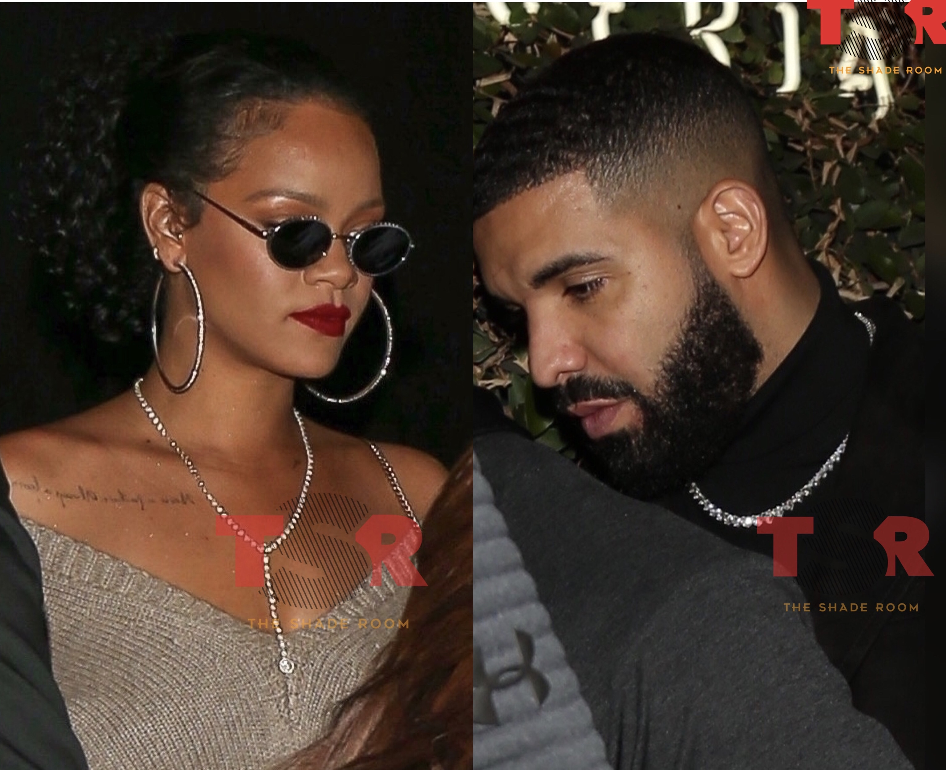 Rihanna leaves Drake's private party