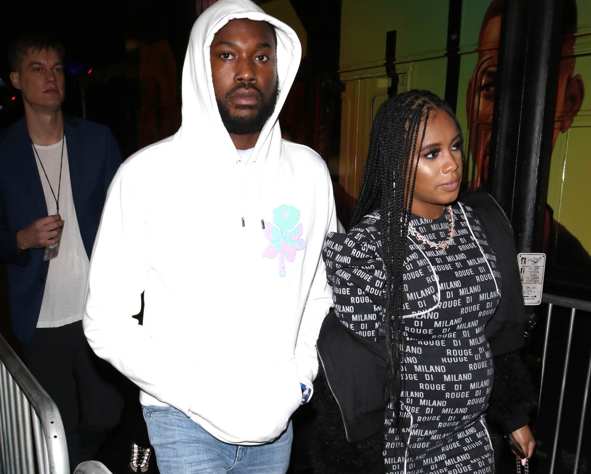 Meek Mill pictured with his rumored boo Milan Rouge