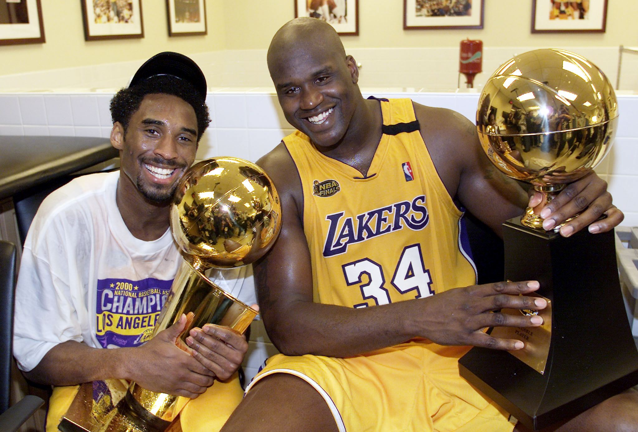 Shaquille O'Neal gets emotional when speaking about Kobe Bryant's passing. Shaq won three championships alongside Kobe while playing for the Lakers.
