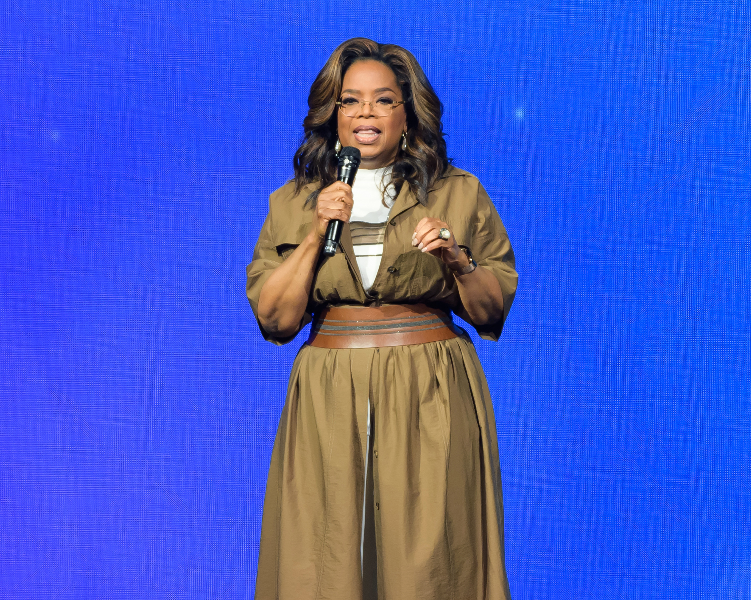 Oprah Winfrey talks about her decision to step down from producing the documentary featuring Russell Simmons' accusers. She says she was not pressured.