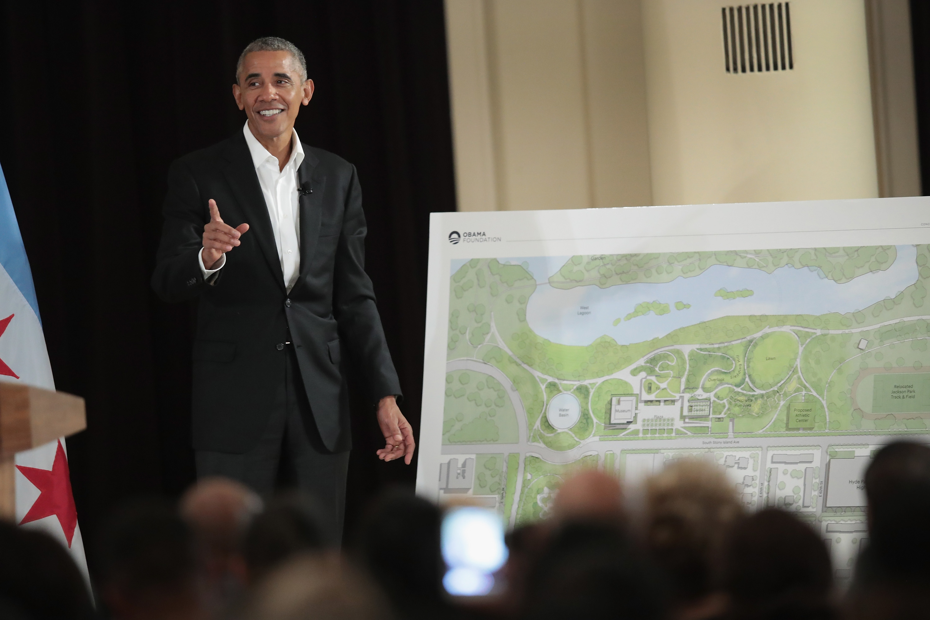 Nike announced its $5 million donation as they team up with the Obama Foundation to help build an athletic court in the Obama Presidential Center.