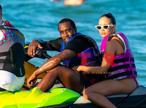 Diddy in Miami on a jet ski