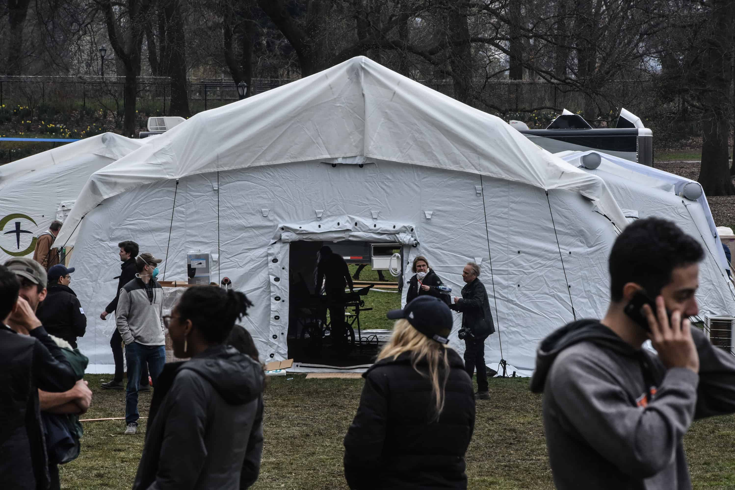 New York City has turned a portion of Central Park into a makeshift hospital to help treat coronavirus patients.