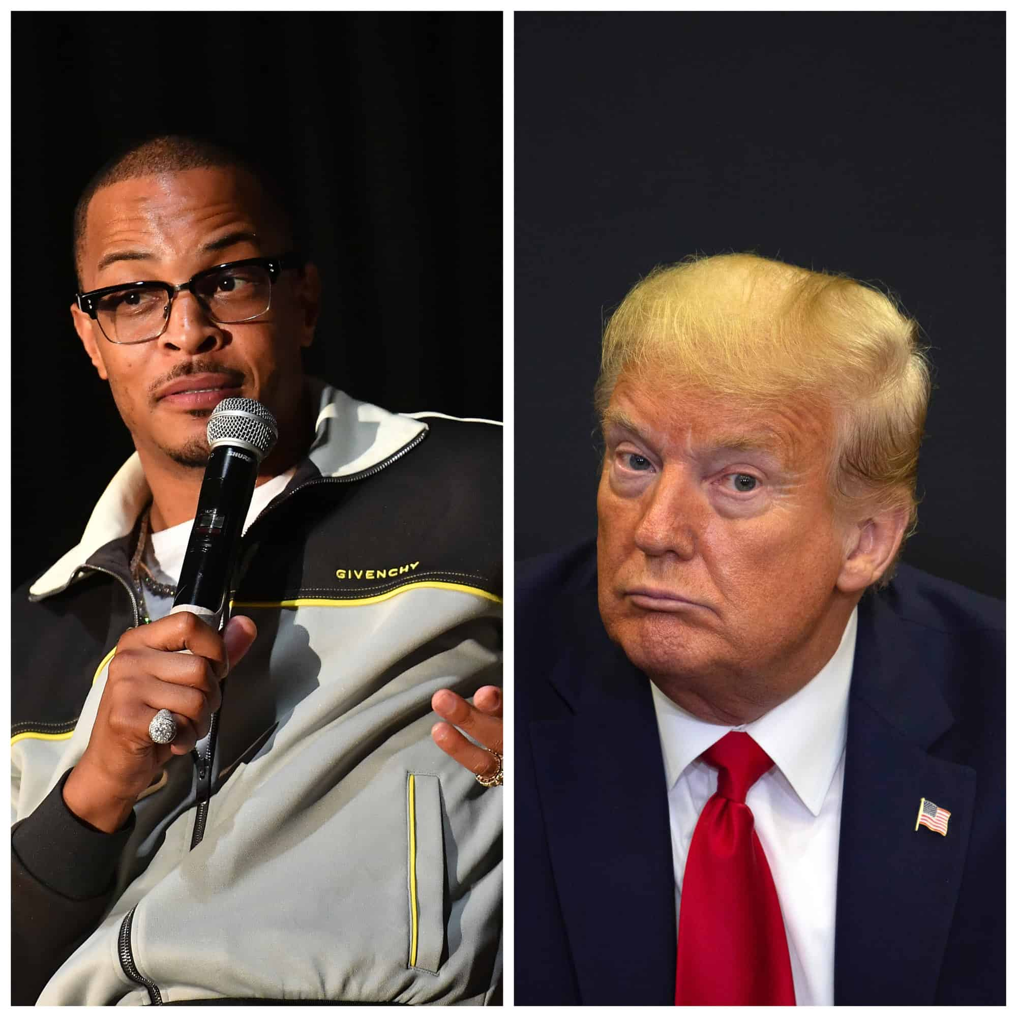 """T.I. responds to Donald Trump's alleged use of his hit song """"Whatever You Like"""" in anti-Joe Biden campaign ad on Snapchat."""