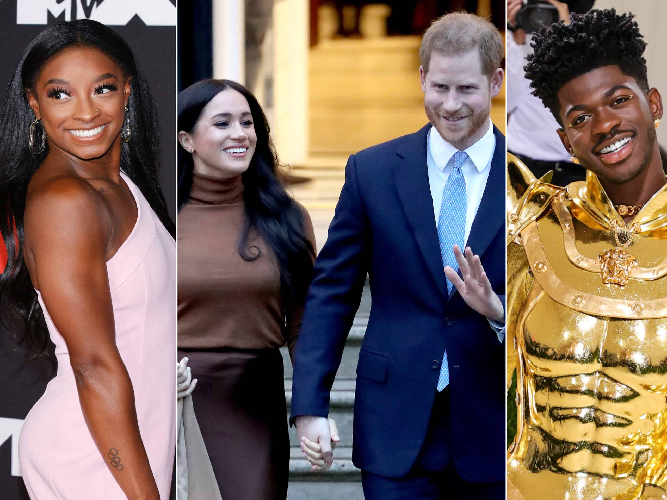 Simone Biles, Princes Harry, Meghan Markle, Lil Nas X and more have made Time Magazine's annual list of most influential people.